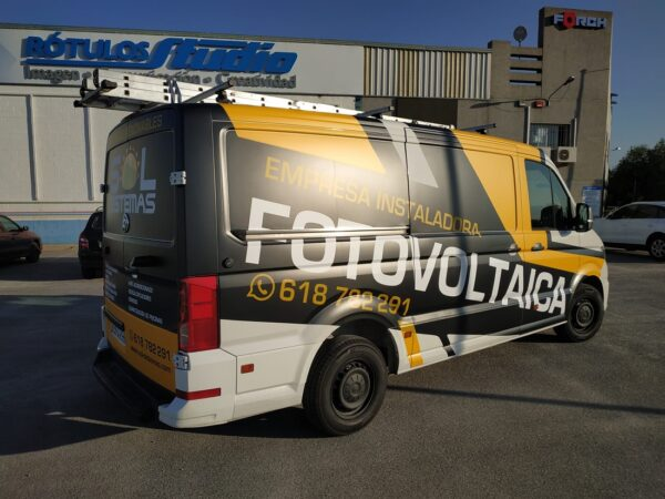 Rotulacion furgoneta Sol sistemas